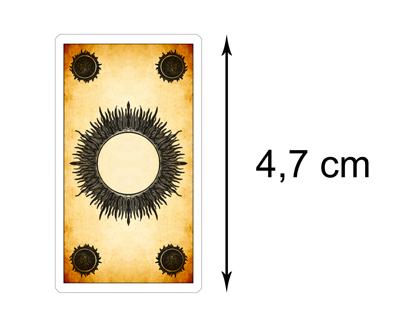 Tarot de los Juegos de la Corte - Reverso de las Cartas Versión Mini