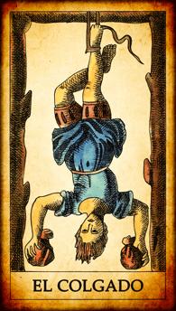 "Carta del Tarot ""El Colgado"""