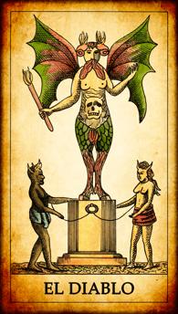 """Carta del Tarot """"El Diablo"""""""