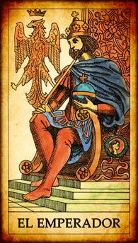 """Carta del Tarot """"El Emperador"""""""