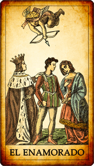"""Carta del Tarot """"El Enamorado"""""""