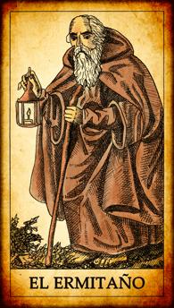 """Carta del Tarot """"El Ermitaño"""""""