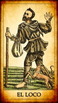"""Carta del Tarot """"El Loco"""""""