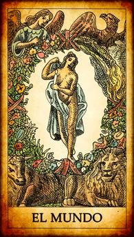 """Carta del Tarot """"El Mundo"""""""