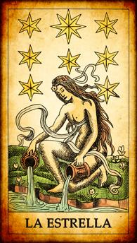 """Carta del Tarot """"La Estrella"""""""