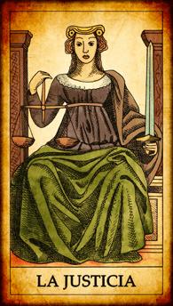 """Carta del Tarot """"La Justicia"""""""
