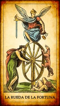 """Carta del Tarot """"La Rueda de la Fortuna"""""""