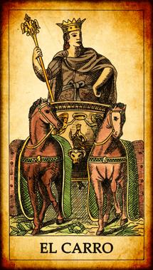 """Carta del Tarot """"El Carro"""""""