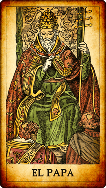 """Carta del Tarot """"El Papa"""""""
