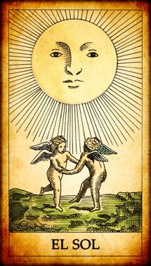 """Carta del Tarot """"El Sol"""""""
