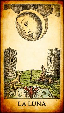 """Carta del Tarot """"La Luna"""""""