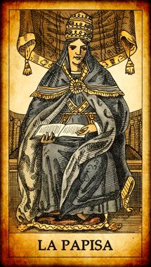 """Carta del Tarot """"La Papisa"""""""
