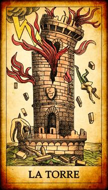 """Carta del Tarot """"La Torre"""""""